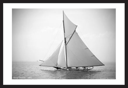 Antique Sailboat art prints - Sloop Oweene - 1891