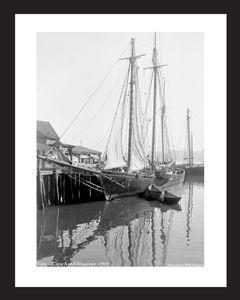 Vera - Cape Ann, Gloucester-1905 - Vintage sailing art print restoration