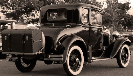 Antique classic car sepia photography art print