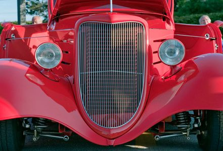 Hot rod grill detail photography art print
