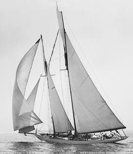 Quisetta 1899 - Historic Retouched Sailing Art Print
