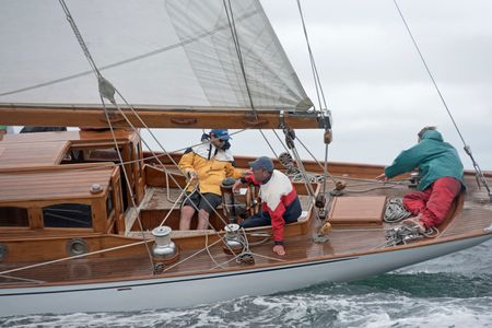 The Classic Yacht The Blue Peter at the Vineyard Cup 2016