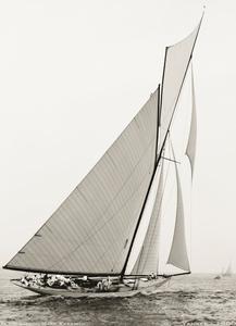Yankee 1900 - Vintage Sailboat art print restoration for Interior Design
