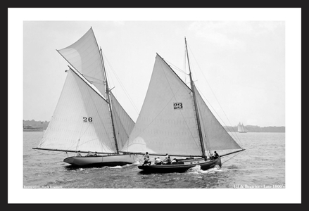 Vintage Sailboats - Elf & Beatrice - Late 1800s - Art Prints  for Home & Office Interiors