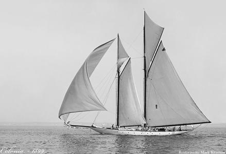 Colonia -1899 -Vintage Sailing Art Print Restoration