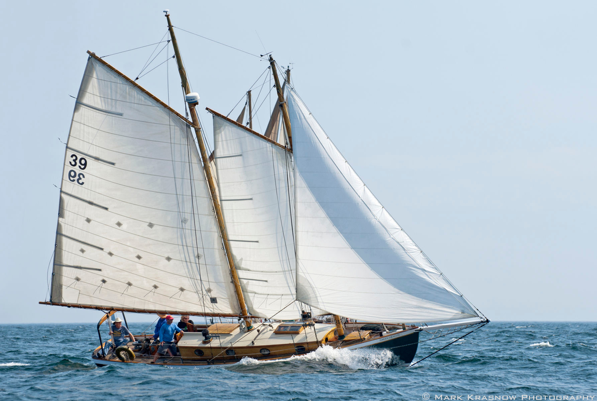 Schooner Green Dragon - Sailboat Art print for home and office