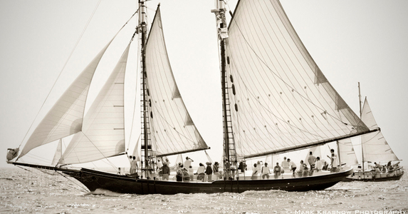 Schooner Thomas E. Lannon B&W Sailboat Art print