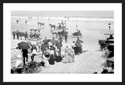 A Day at the Beach in Florida - Early 1900's