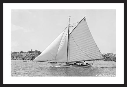 Vintage Sailboats Art Print Restoration - Late 1800's
