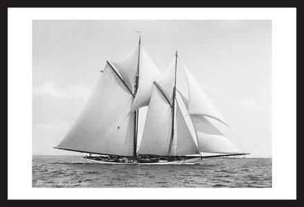 Schooner Mayflower - 1890 - Historic Photo restoration art print