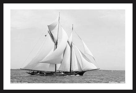 Vintage Sailboats - Ramona - 1888 - Art Prints  for Home & Office Interiors