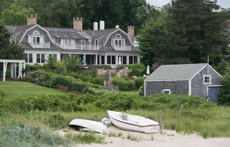 Landscape from the Pier alongside Martha's Vineyard Ferry