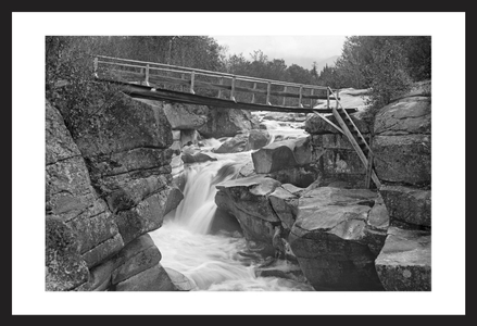 Foot Bridge over falls White Mountains New Hampshire 1900 - art print