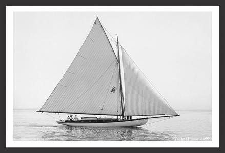 Hussar -1899 - Vintage Sailboat Art Print