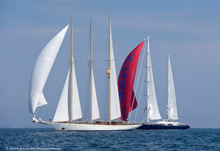 Schooner Adix and Superyacht Zenji at the Candy Store Cup