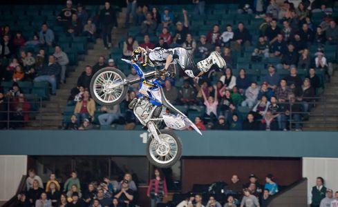 Freestyle Motocross racing stunt