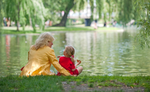 Mother and daughter time at Boston Common
