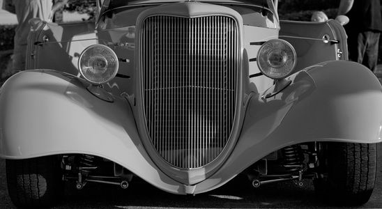 Hot rod grill  black & white photography art print