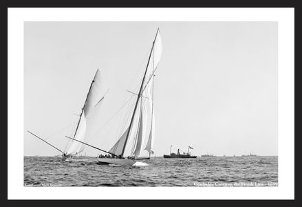 America's Cup - Columbia crossing the line in 1899 - Art Prints  for Home & Office Interiors