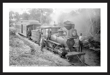 Jupiter & Lake Worth, FL Railroad - Late 1800's