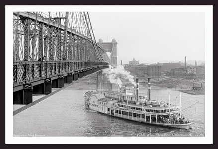 Paddle Wheel Steamboat, Cinncinati OH, 1906