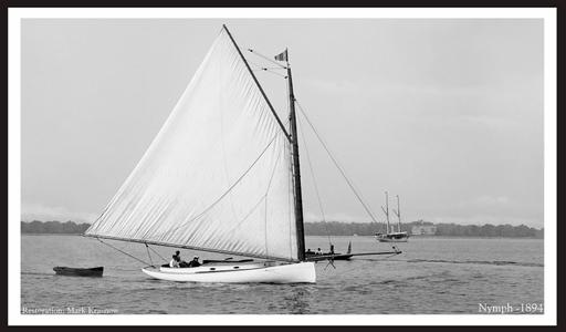Vintage Sailboats Photo Restoration - Nymph 1894