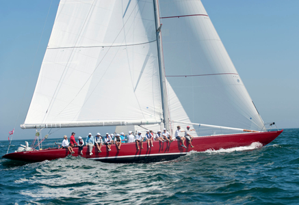 American Eagle 12 Metre Yacht at the Opera House Cup 2015 in Nantucket, MA