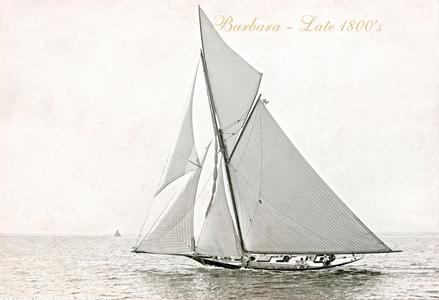 Vintage Restored Sailing Art Print - Barbara Late 1800s
