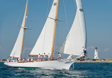 Classic Herreshoff Yacht Ticonderoga at the Opera House Cup 2015 in Nantucket, MA