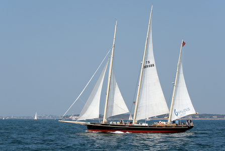 Schooner Spirit of Bermuda sailing in Gloucester