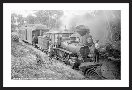 Jupiter & Lake Worth, FL Railroad - Late 1800's