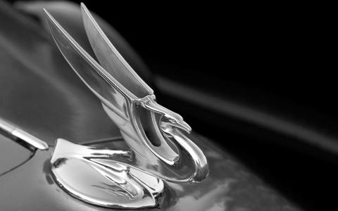 Hood Ornament black & white photography art print
