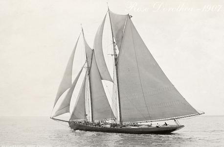 Vintage Restored Sailing Art Print - Rose Dorothea