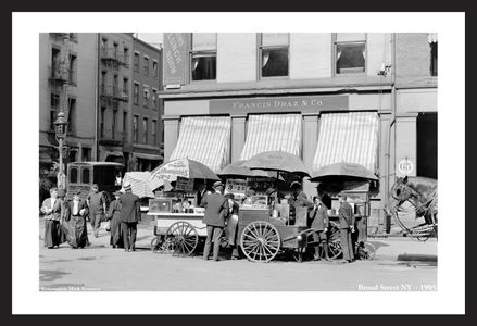 Broad Street, NY, - 1905 - Historic black & white photography art print