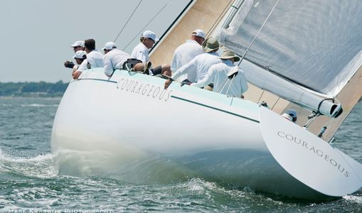 12 Metre Courageous Racing in Newport, RI