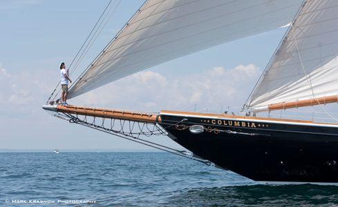 Bowman on the Schooner Columbia - Newport, Rhode Island