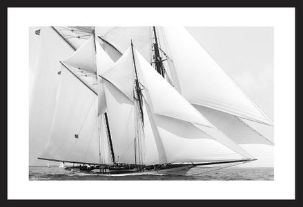 Historic Schooner art print restoration