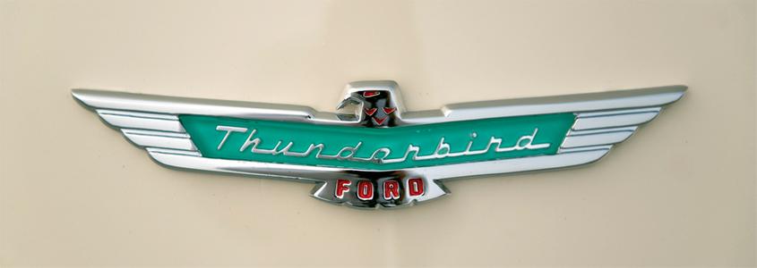 Ford Thunderbird Eagle logo art print