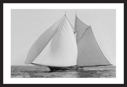 Constellation -1892  - Commodore Gerry Cup Race - Vintage sailing photography art print restoration