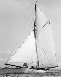Puritan 1891 - Retouched Sailing Art Print