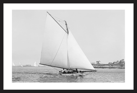 Sirocco -1892  - Antique sailing photography art print restoration for home and office