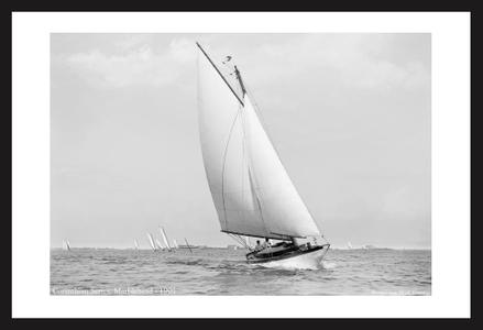 Historic Sailing art prints - Corinthian Series Marblehead, MA - 1901