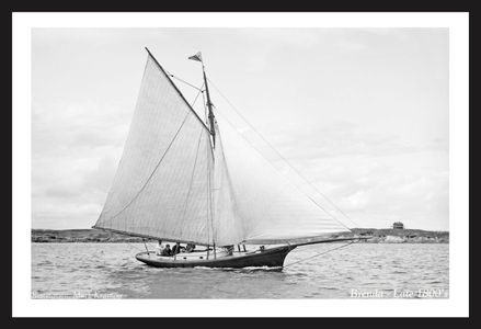Vintage Sailing Art Print for Home and Office - Brenda - Late 1800's