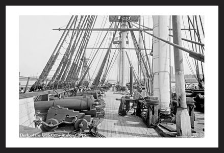 U.S.S. Constitution - c 1915 - Historic Sailing Photo art print