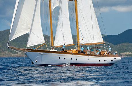 Seljm at the Antigua Classic Yacht Regatta 2016