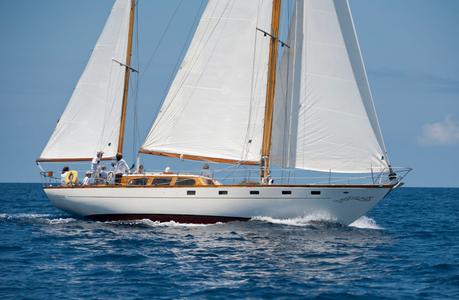 Petrana at the Antigua Classic Yacht Regatta 2016