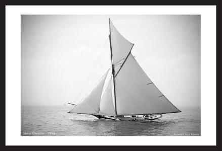 Antique Sailboat art prints - Sloop Oweene - 1891