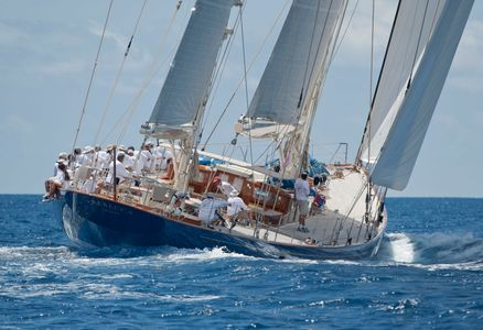 Superyacht Rebecca Racing in Antigua