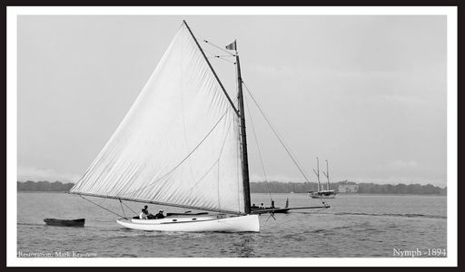 Vintage Sailboats Photo Restoration - Nymph 1894