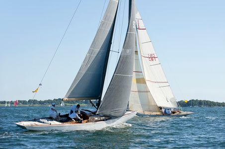 Waterwitch and 8 mR Quest at the Museum of Yachting - IYRS Regatta in Newport, RI